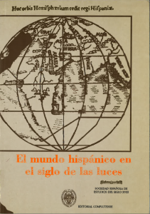 Portada de El mundo hispánico en el siglo de las luces